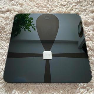 ガラス鏡の体重計