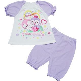 アンパンマン(アンパンマン)のるい様専用 90cm アンパンマン おやすみ半袖パジャマ パープル(パジャマ)