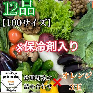 12品 野菜詰め合わせ➕オレンジ3玉 野菜セット 八百屋さんおまかせ※保冷剤入り(野菜)