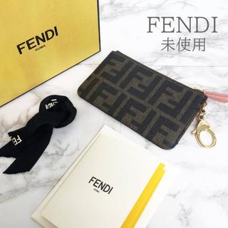 FENDI - 未使用 フェンディ ズッカ柄×ピンク コインケース 小銭入れ 冊子 箱付き