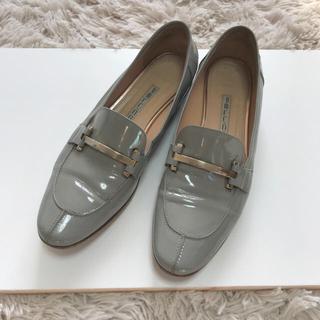 ペリーコ(PELLICO)のペリーコ  PELLICO エナメルローファー グレー(ローファー/革靴)