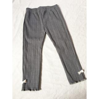 シマムラ(しまむら)のリブレギンス 9分たけ ズボン パンツ リボン付き 100サイズ(パンツ/スパッツ)