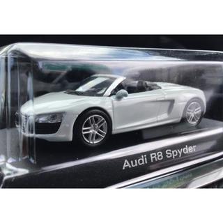 アウディ(AUDI)の京商 1/64 Audi アウディ R8 Spyder スパイダー 白 ホワイト(ミニカー)