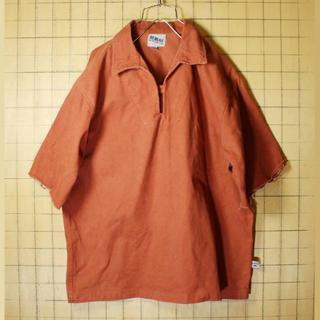 ビッグサイズEURO ワークジャケット レンガ色 レッド XL カットオフss1(カバーオール)
