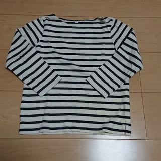 ムジルシリョウヒン(MUJI (無印良品))の無印良品 ボーダーカットソー(120㎝)(Tシャツ/カットソー)