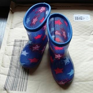 ニシマツヤ(西松屋)の男の子 長靴 15cm 星柄(長靴/レインシューズ)