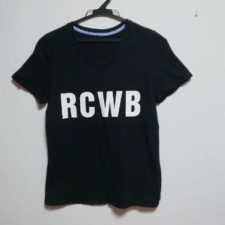 ロデオクラウンズ(RODEO CROWNS)の【S】ロデオクラウンズ★ロゴ★プリント★半袖★Tシャツ★ブラック(Tシャツ/カットソー(半袖/袖なし))