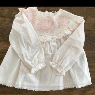 ボンポワン(Bonpoint)のザラベビーガール ザラガール 新品 ブラウス シャツ 110cm(Tシャツ/カットソー)