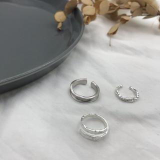 ビューティアンドユースユナイテッドアローズ(BEAUTY&YOUTH UNITED ARROWS)のsilver rings & ear cuff set(リング(指輪))