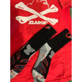エクストララージ(XLARGE)の半袖XLARGEのTシャツ+非賣品BOSS7分䄂+靴下25cm(Tシャツ/カットソー(七分/長袖))