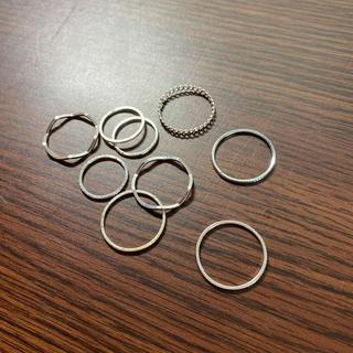 エイチアンドエム(H&M)のシルバー リング 指輪 9本セット(リング(指輪))