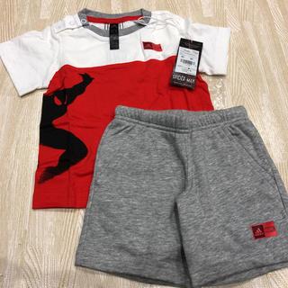アディダス(adidas)の値下げ!新品♡ アディダス×マーベル スパイダーマン セットアップ(Tシャツ)