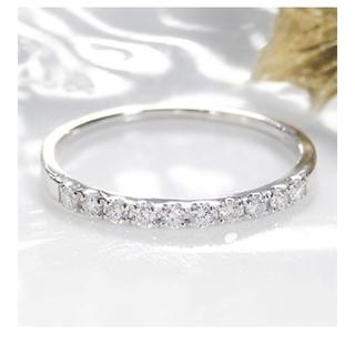 プラチナ900ダイヤモンドエタニティピンキーリング(リング(指輪))