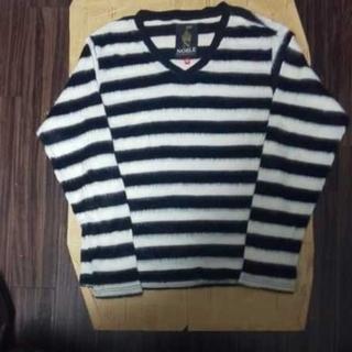 ノーブル(Noble)の美品NOBLE ボーダーカットソー(Tシャツ/カットソー(七分/長袖))