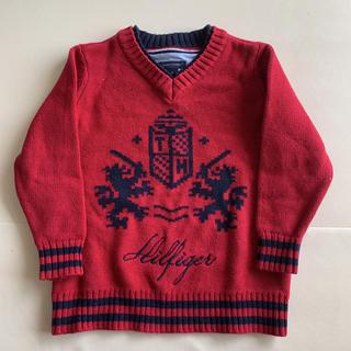 トミーヒルフィガー(TOMMY HILFIGER)のtommy 赤セーター 3T(ニット)