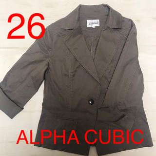 ALPHA CUBIC ジャケット カジュアル ブラウン
