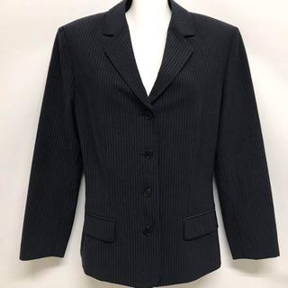 カルバンクライン(Calvin Klein)のカルバンクライン レディース テーラードジャケット ストライプ 紺 9号(テーラードジャケット)