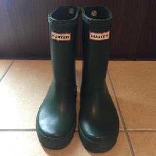 ハンター(HUNTER)のHUNTER レインブーツ 長靴 UK10 グリーン 16cm(長靴/レインシューズ)