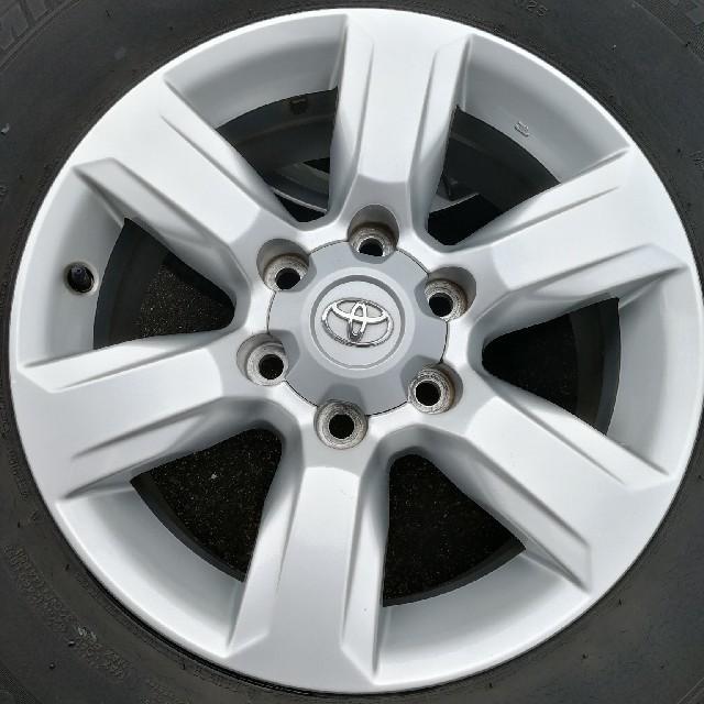トヨタ(トヨタ)のランドクルーザープラド 150系 純正ホイール+タイヤ 4本セット 自動車/バイクの自動車(ホイール)の商品写真