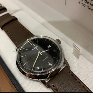 タイメックス(TIMEX)のタイメックス マーリン  40mm ブラック×ダークブラウン レザー(腕時計(アナログ))