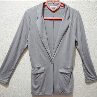 シマムラ(しまむら)のグレー テーラード ジャケット♥️M GRL(テーラードジャケット)
