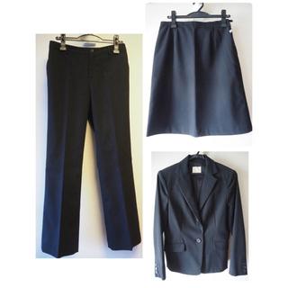 オリーブデオリーブ(OLIVEdesOLIVE)のブラック リクルートスーツ3点セット!ジャケット、パンツ、スカート(スーツ)