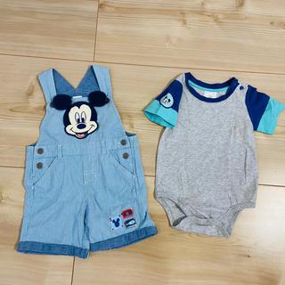 ディズニー(Disney)のミッキーマウス ロンパースとオーバーオール(パンツ/スパッツ)