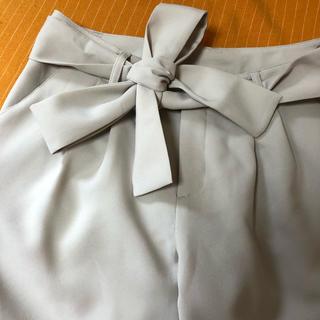 【イマージュ】クロップドパンツ 共布リボンベルト付 サイズ11号