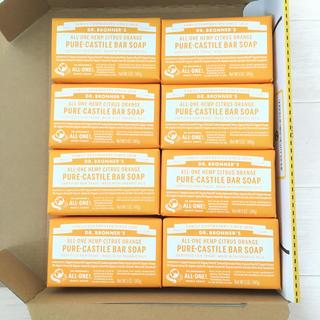 ドクターブロナー(Dr.Bronner)の8個セット ドクターブロナー マジックソープバー シトラスオレンジ(ボディソープ/石鹸)