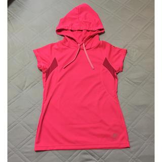 アシックス(asics)のレディース ランニングパーカー asics(Tシャツ(半袖/袖なし))