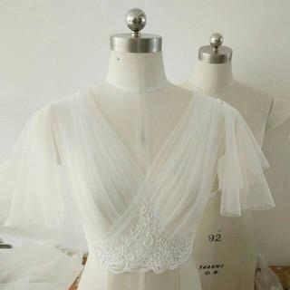 美品! ウエディングドレス ボレロ トップスのみ  結婚式/披露宴 エレガント(ウェディングドレス)