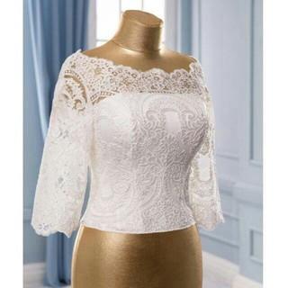 セパレートドレス用トップスのみ 重なるバック 上品レース付き(ウェディングドレス)