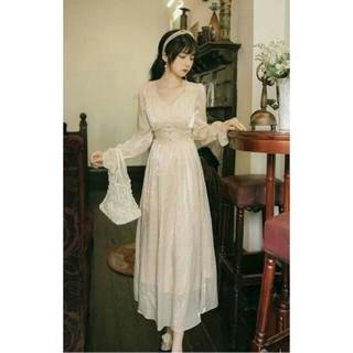 高品質! イブニングドレス ミニトレーン/短トレーン 深Vネックド エレガン(ウェディングドレス)