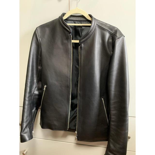 STUDIOUS(ステュディオス)のLIDNM ラムレザーシングルライダース メンズのジャケット/アウター(ライダースジャケット)の商品写真