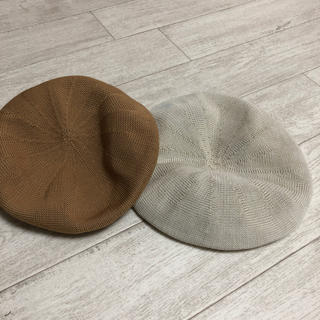 ニシマツヤ(西松屋)の★ ベレー帽 2つ(ハンチング/ベレー帽)
