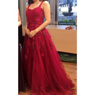 赤いドレス 最終値下げ(ロングドレス)