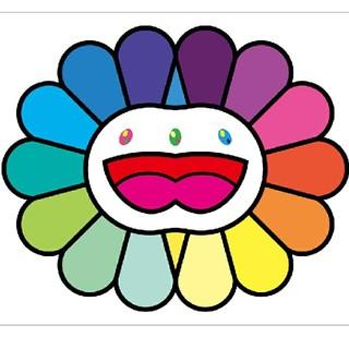 村上隆 版画 Multicolor Double Face White(版画)