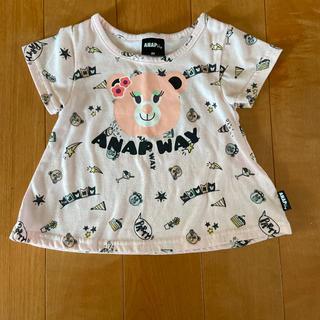 アナップキッズ(ANAP Kids)のANAP WAY☆ピンク色Tシャツ 80cm(Tシャツ)
