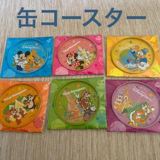 ディズニー(Disney)のディズニー缶コースター6枚セット(テーブル用品)