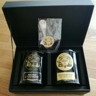 マリアージュフレールマルコポーロ紅茶空缶2個 茶さじ付(茶)