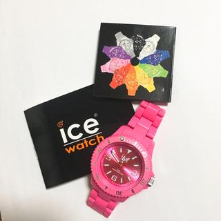 アイスウォッチ(ice watch)のお値下げ可能★電池なしアイスウォッチ ピンク(腕時計)