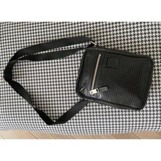 ディオールオム(DIOR HOMME)のレア美品 Dior homme ディオールオム ショルダーバッグ ブラック(ショルダーバッグ)