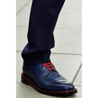 ディオールオム(DIOR HOMME)のレア美品 Dior homme 11SS シューズ 40 ブルー 箱保護袋付き(ドレス/ビジネス)