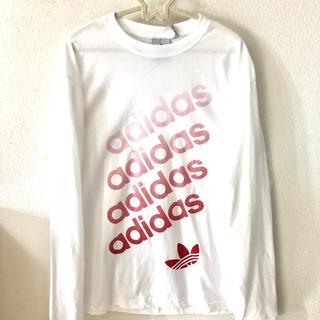アディダス(adidas)のアディダス ロングTシャツ パーカー スウェット 長袖 ロゴ 新品 白 メンズ(パーカー)