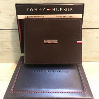 トミーヒルフィガー(TOMMY HILFIGER)のトミーヒルフィガー 財布 サイフ 本革 トレー 新品  スキミング防止 ブランド(折り財布)
