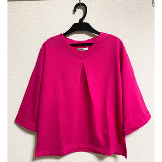 グレイル(GRL)の【新品】ビッグVネックTシャツ(Tシャツ/カットソー(半袖/袖なし))