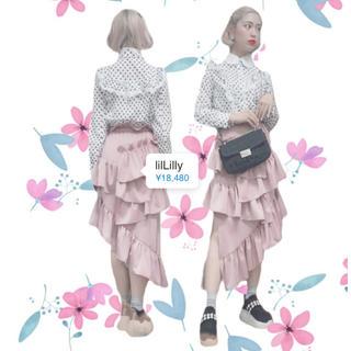 リルリリー(lilLilly)の<期間限定>定価より 30%off ❤︎lilLilly ティアードスカート(ひざ丈スカート)