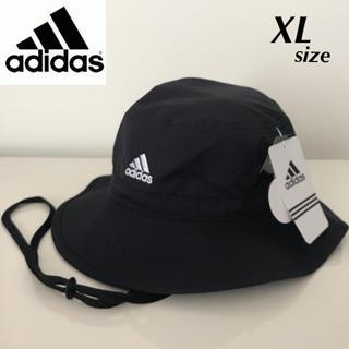 アディダス(adidas)の【定価4268円】adidas 吸汗速乾 アドベンチャーハット 黒 XL(ハット)