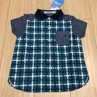ファミリア(familiar)の新品未使用 ファミリア 半袖 シャツ familiar 90cm チェック(ブラウス)