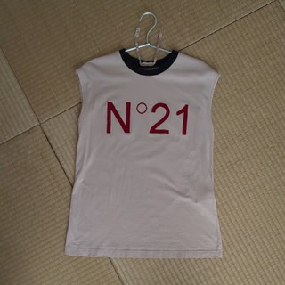 ヌメロヴェントゥーノ(N°21)のヌメロヴェントゥーノノースリーブtシャツ(Tシャツ(半袖/袖なし))